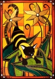 Cat Art Kitty Bee by Dora Hathazi Mendes
