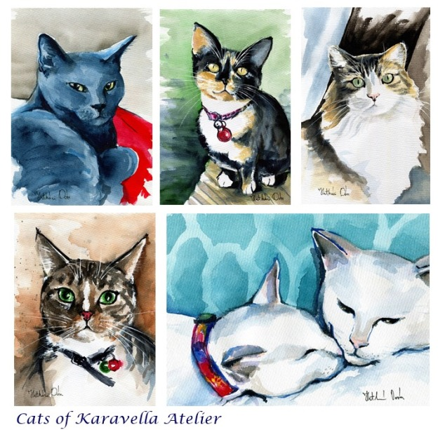 Cats Portraits by Dora Hathazi Mendes - Cats Of Karavella Atleier