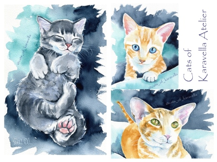 Cat Art by Dora Hathazi Mendes